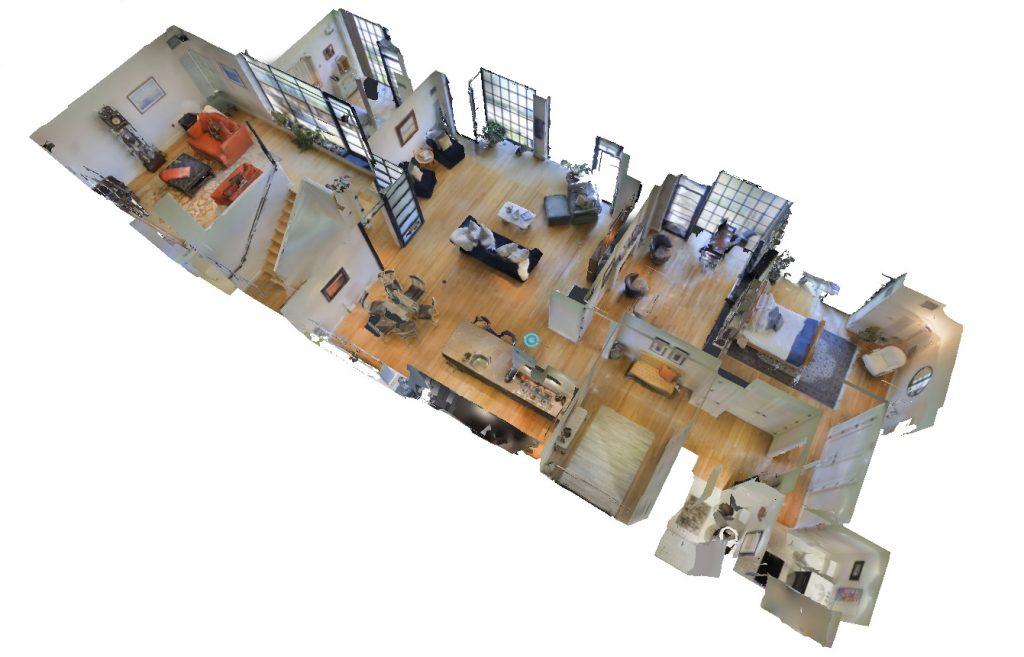 plan 3d immobilier d'une visite virtuelle