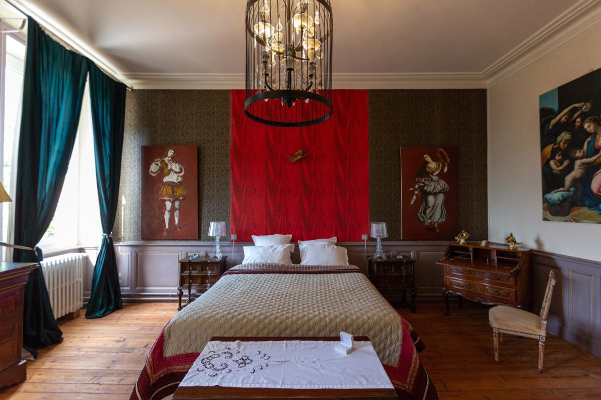 la chambre des mariés au Château de la Bourdelière