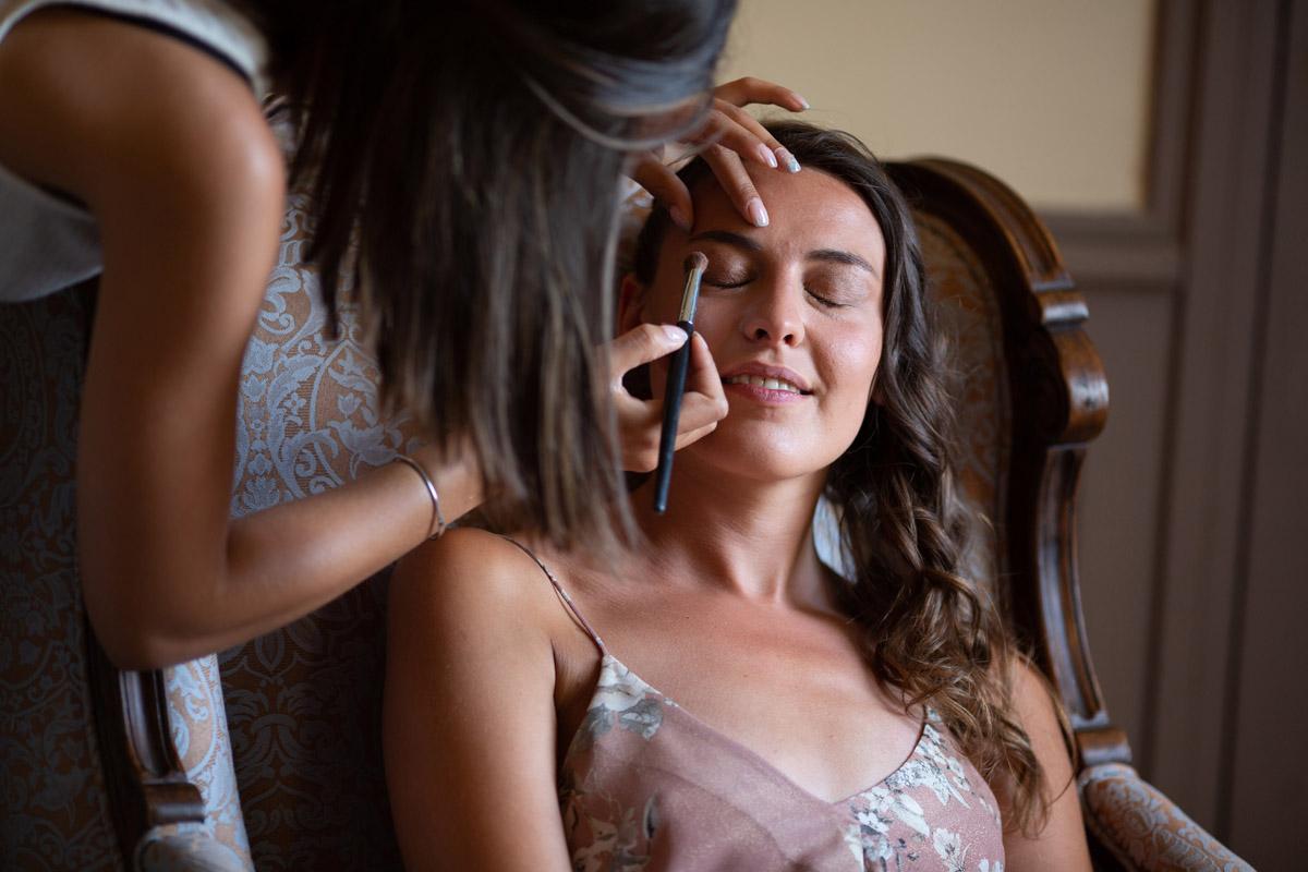 temps make-up pour la mariée