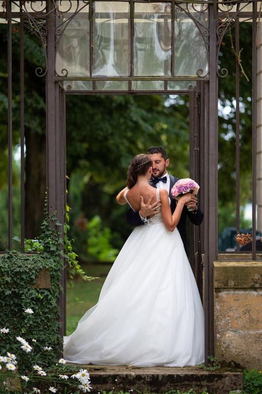 Photographie d'un couple de marié réalisé entre Lyon et Saint Etienne