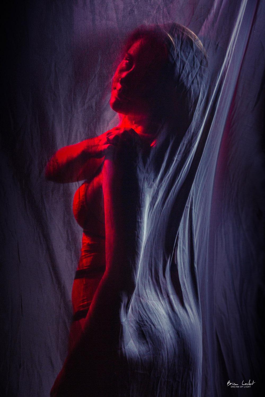 photographie lingerie de dos en studio lyon