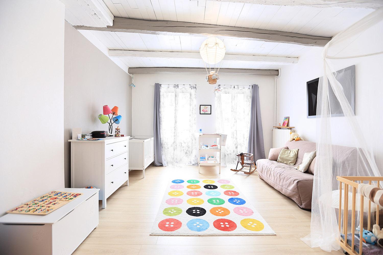 photographe immobilier grande chambre bébé