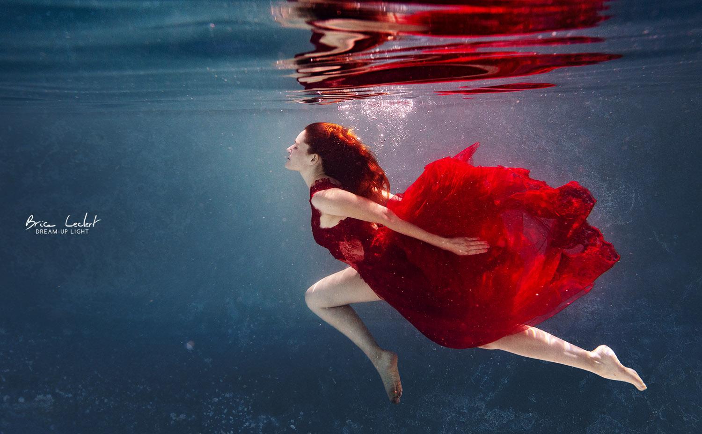 Priscilla portrait sous l'eau